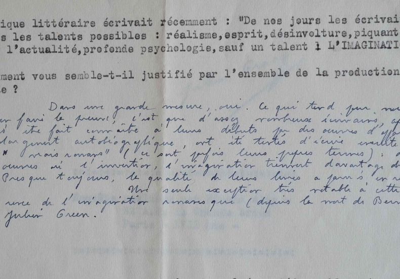 Julien Gracq admirateur de l'oeuvre romanesque de Julien Green.. Julien Gracq (1910-2007) Ecrivain, proche des Surréaliste, il obtint le prix Goncourt ...