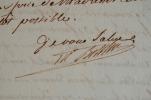 Lettre du maréchal Berthier comme grand veneur.. Louis-Alexandre Berthier (prince de Neuchâtel) (1753-1815) Maréchal d'Empire (1804). Assassiné au ...