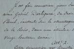 Concession pour l'exploitation des mines de plomb de Commeren.. Emmanuel Crétet de Champmol (1747-1809) Ministre de l'Intérieur de Napoléon ...