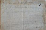 Important rapport d'exploration manuscrit de Madagascar du XVIIIe.. Antoine Joseph Fortin (1745-1810) Officier de vaisseau de la Compagnie des Indes, ...