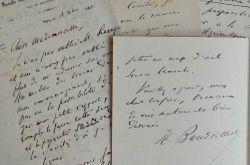 Quatre lettres d'Henri Baudrillard à Alfred de Foville.. Henri Baudrillart (1821-1892) Économiste, disciple de Michel Chevalier, il enseigne ...