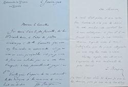 Lettre de l'ambassadeur de France à Saint-Pétersbourg, Bompard.. Louis Maurice Bompard (1854-1935) Diplomate, il oeuvre d'abord dans l'administration ...