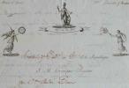 Lettre avec superbe vignette du payeur de l'Armée d'Italie..