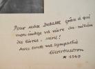 Portrait dédicacé de Gilbert Cesbron.. Gilbert Cesbron (1913-1979) Romancier et essayiste d'inspiration catholique, prix Sainte-Beuve.