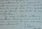 Alain Robbe-Grillet refuse un manuscrit.. Alain Robbe-Grillet (1922-2008) Ecrivain, chef de file du Nouveau roman, membre de l'Académie française (il ...