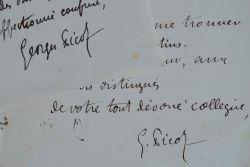 Georges Picot s'interroge sur l'inscription de la médaille Levasseur.. Georges Picot (1838-1909) Historien, il est également juriste, directeur des ...