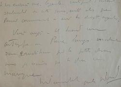 André Warnod ému par un autographe de Renoir.. André Warnod (1885-1960) Écrivain, dessinateur et critique d'art, il est le premier à avoir utilisé ...