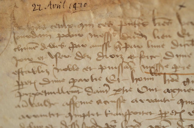 Vente de deux étangs en Poitou au moyen-âge..