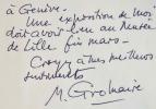 Marcel Gromaire prépare une exposition à Lille.. Marcel Gromaire (1892-1971) Peintre, graveur et décorateur.