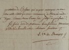 Le comte de Flavigny refuse une recommandation pour la croix de saint-Michel.. Louis-Agathon Flavigny (comte de) (1722-1793) Officier et diplomate, il ...