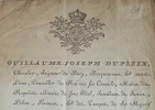 Dupleix de Bacquencourt annonce une remise d'impôts à Péronne.. Guillaume-Joseph Dupleix de Bacquencourt (1727-1794) Intendant en Picardie, puis en ...