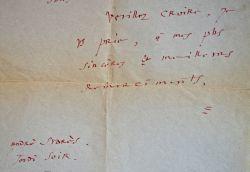 André Suarès accablé d'injures.. André Suarès (1868-1948) Ecrivain et poète, l'un des fondateurs de la N.R.F., ami de Péguy, Gide, Claudel.