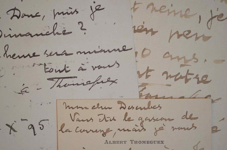 "L'épéiste Albert Thomeguex organise un ""dîner de pointes"" chez Madeleine Lucas.."