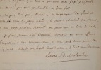 Lettre de l'historien orléanais, Boucher de Molandon.. Rémi Boucher de Molandon (1805-1893) Historien, il est spécialiste de Jeanne d'Arc. Il est ...