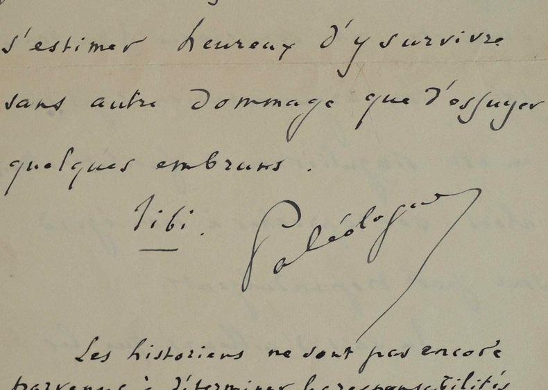Maurice Paléologue peu ému par la critique.. Maurice Paléologue (1859-1944) Descendant des Empereurs de Byzance et Constantinople, il est diplomate. ...