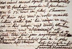 Belle lettre d'admiration de Fanny de Beauharnais.. Fanny Beauharnais (de) (1737-1813) Femme de lettres, épouse d'Eugène de Beauharnais, elle reçoit ...