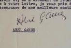 Abel Gance dresse une liste d'ouvrages fidèles à la vérité.. Abel Gance (1889-1981) Cinéaste, l'un des pères du cinéma français.