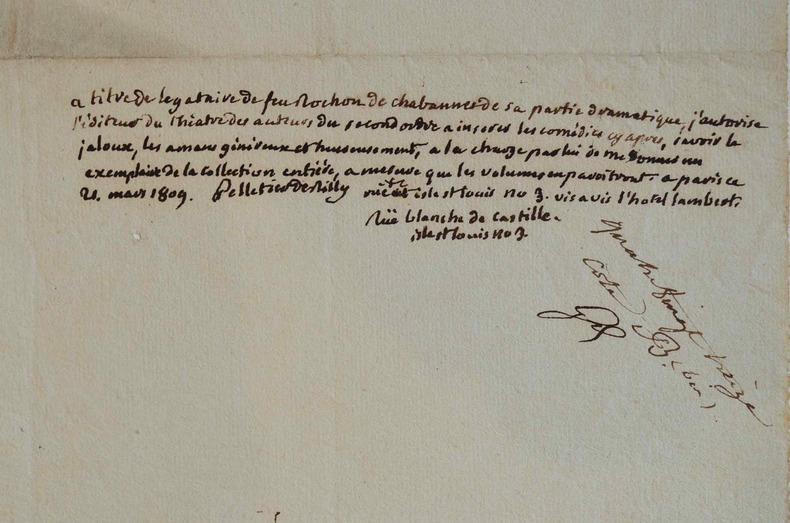 Rochon de Chabannes réédité à titre posthume par Pelletier de Rilly..
