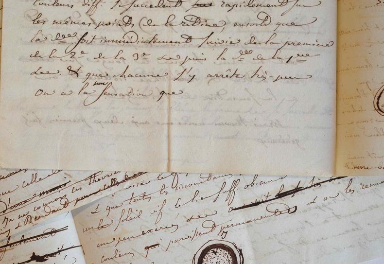 Rapports d'expériences faites au début du XIXe sur les couleurs accidentelles.. Isaac-Bénédict Prévost (1755-1819) Naturaliste, agronome et savant ...