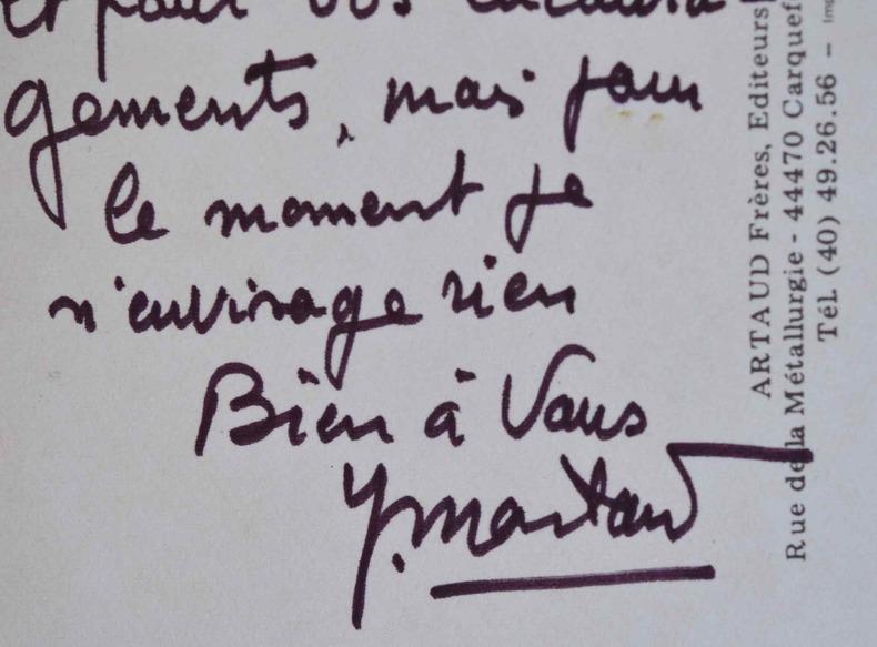 Yves Montand n'envisage pas de devenir président.. Yves Montand (1921-1991) Acteur et chanteur.