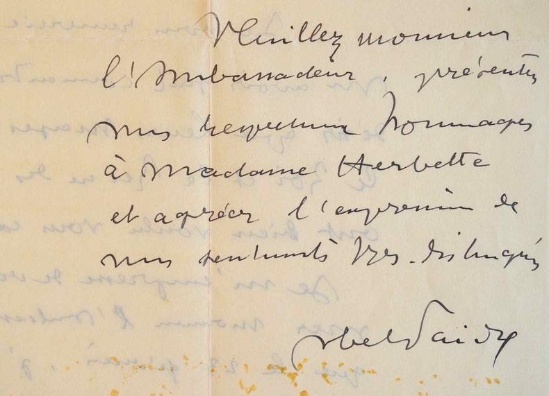 Abel Faivre invité par le Roi des Belges.. Abel Faivre (1867-1945) Peintre et illustrateur, élève de Jules Lefebvre et Benjamin-Constant. Il est ...