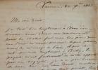 Lettre de Varsovie du diplomate Charles de Théis..