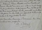 Armand Carrel recommande un citoyen patriote.. Armand Carrel (1800-1836) Journaliste républicain, tué en duel par Emile de Girardin.