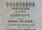 Quatre imprimés sur l'expédition d'Alger..