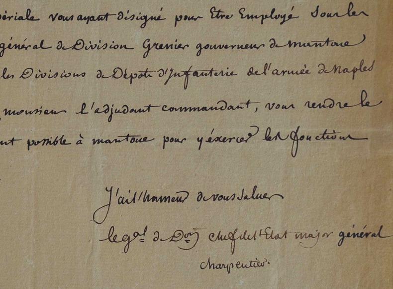 Le général Charpentier à Milan.. Henri François Marie Charpentier (comte) (1769-1831) Général. Créé comte d'empire (1810) après avoir combattu à ...