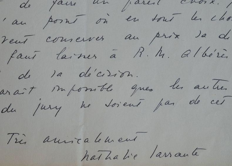 Nathalie Sarraute refuse de se laisser imposer son choix au jury Médicis.. Nathalie Sarraute (1900-1999) Femme de lettres, figure de proue du Nouveau ...