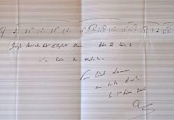 Manuscrit musical de Laurent Petitgirard, extrait d'Elephant Man.. Laurent Petitgirard (1950-0) Compositeur et chef d'orchestre, membre de l'Académie ...
