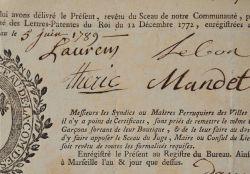 Les maîtres perruquiers de Marseille délivrent un certificat..