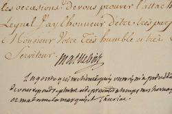 Le marquis de Maillebois handicapé par la goute.. Yves Marie Desmarets Maillebois (marquis de) (1715-1791) Officier, fils du maréchal de Maillebois, ...