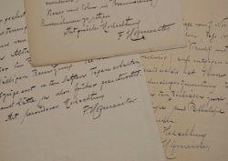 Trois lettres du biochimiste tchèque, pionnier des protéines, Franz Hofmeister.. Franz Hofmeister (1850-1922) Biochimiste tchèque, pionnier des ...