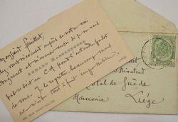 Armand Rassenfosse contraint de décliner une invitation.. Armand Rassenfosse (1862-1934) Peintre et lithographe belge, élève et collaborateur de ...