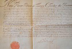 Attestation de noblesse délivrée par le héraut d'armes par Pierre-Albert de Launay..