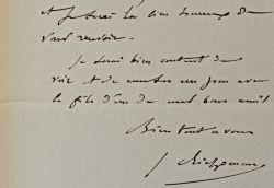 Le peintre Jules Richomme sollicite un acompte pour sa commande de l'Etat.. Jules Richomme (1818-1903) Peintre. Élève de Drolling, il reçoit de ...