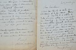 Trois lettres du sculpteur Denys Puech sur ses commandes de sculptures.. Denys Puech (1854-1942) Sculpteur, il est lauréat du Prix de Rome en 1884. Il ...