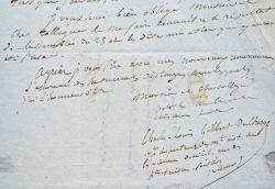 L'historien Charles-Louis de Chergé s'adresse à l'ornithologue René Primevère Lesson.. Charles-Louis Chergé (de) (1814-1885) Historien, inspecteur des ...