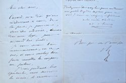 Trois lettres du dramaturge Adolphe d'Ennery.. Adolphe Ennery (d') (1811-1899) Romancier et auteur dramatique, il écrit plus de deux cents pièces ou ...