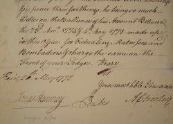 Le voyageur anglais Jonas Hanway signe un reçu pour le ravitaillement.. Jonas Hanway (1712-1786) Voyageur (en Perse) et philanthrope anglais. A partir ...