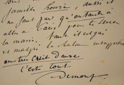 Deux lettres cocasses du peintre Adrien-Louis Demont.. Adrien-Louis Demont (1851-1928) Peintre et dessinateur, élève de Corot. Il fait du paysage à ...
