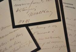 Six lettres du député de l'Orne Armand de Mackau.. Armand Mackau (de) (1832-1918) Député, il s'engage aux côtés de Georges Boulanger (1837/1891). ...