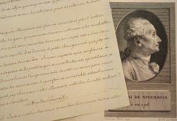 Le duc de Nivernais souhaite la modification du « Chemin de Poitiers ».. Louis Jules Mancini Mazarini, duc de Nivernais (1716-1798) Homme de lettres ...
