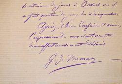 Le sculpteur Gabriel-Jules Thomas donne des nouvelles de Bouguereau.. Gabriel Jules Thomas (1823-1896) Sculpteur, prix de Rome, professeur à l'École ...