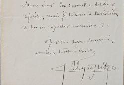 Cinq lettres du peintre Jules Jacques Veyrassat sur les délibérations du Salon.. Jules Jacques Veyrassat (1828-1893) Peintre, il est également reconnu ...
