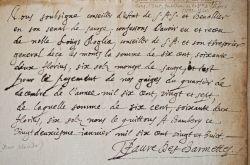Favre des Charmettes, conseiller d'Etat de Savoie, reçoit ses gages.. Jean-Claude Favre des Charmettes (1593-1650) Gentilhomme servant de la duchesse ...