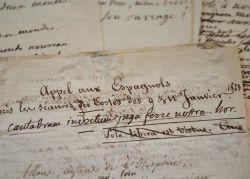 Ensemble d'épigrammes, inscriptions et manuscrits d'Eloi Johanneau.. Eloi Johanneau (1770-1851) Philologue et antiquaire, censeur impérial, principal ...