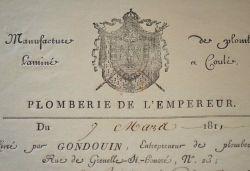 """Intervention de la """"plomberie de l'Empereur"""" à la Bibliothèque du Panthéon.."""