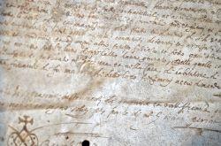 Deux bourgeois de l'Escarène, près de Nice, conviennent d'une dote, en 1588..